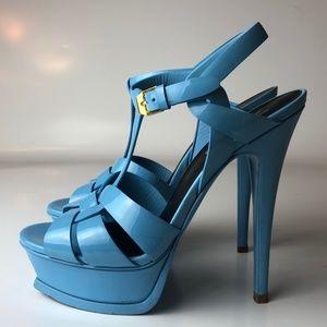 YSL Yves Saint Laurent Tribute Bue Sandals 35